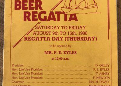 Beer Regatta 1986