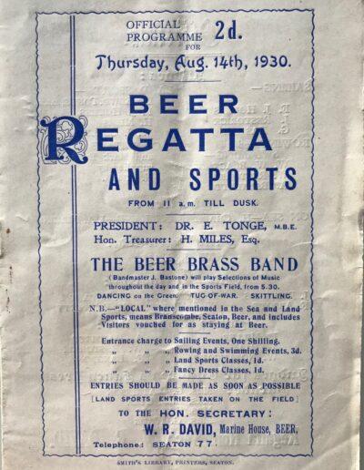 Beer Regatta 1930