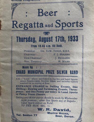 Beer Regatta 1933