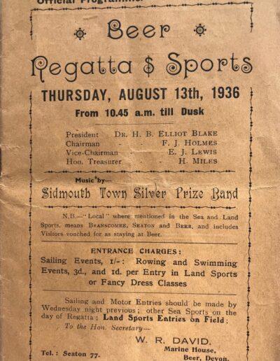 Beer Regatta 1936