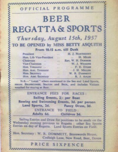 Beer Regatta 1957