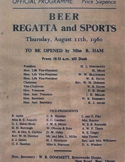 Beer Regatta 1960